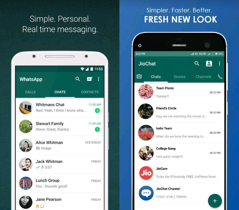 WhatsApp kloon JioChat
