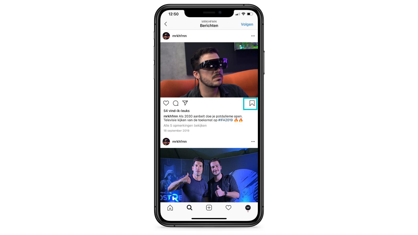 Instagram foto opslaan/downloaden