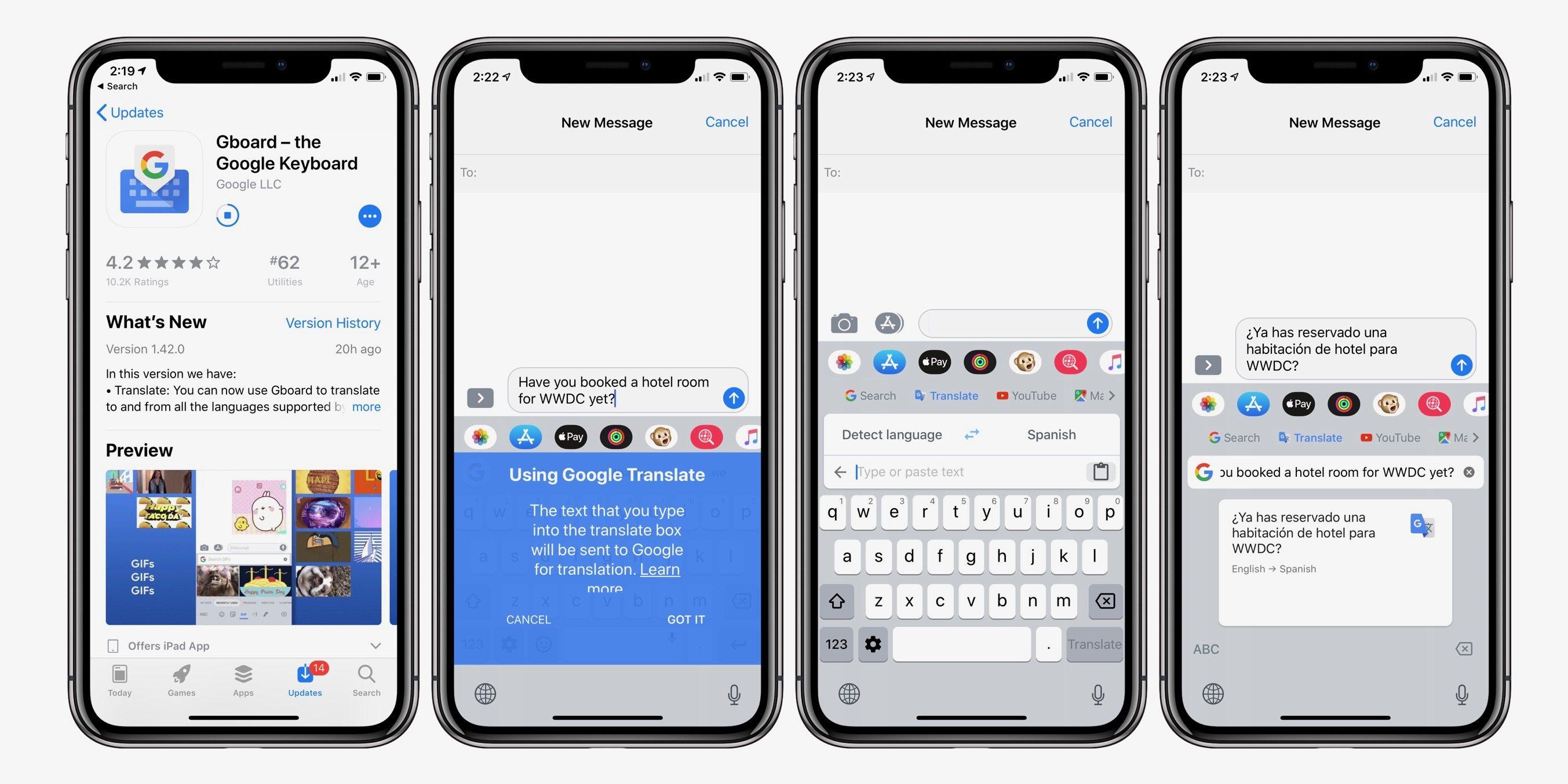 Gboard iOS toetsenbord