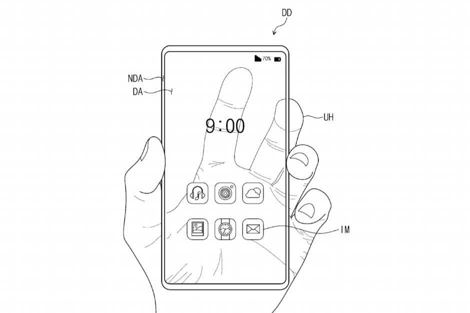 Samsung doorzichtige smartphone