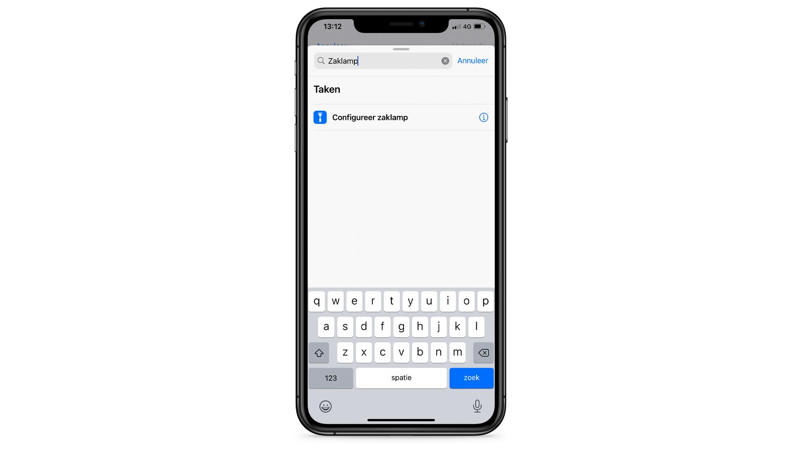Geheime knop Apple iPhone