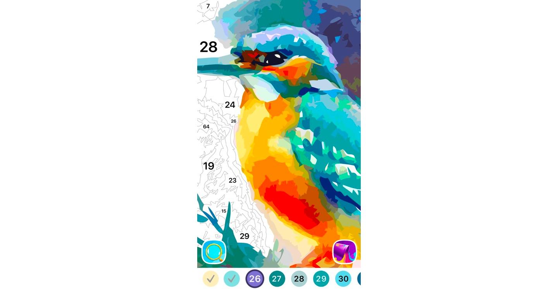 Android app kleur olieverfschilderij
