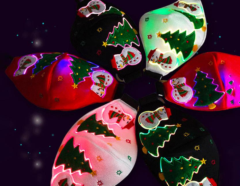 LED kerst mondkapje